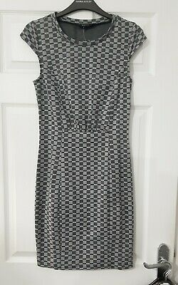 Grey Checked Dress Size 10 Bnwt • 2.90£