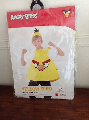 New Smiffys Angry Birds Fun Fancy Dress Up Costume Outfit To Fit Age 10-12 Yrs • 5.95£