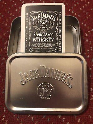 Jack Daniels Old No.7 Whiskey Playing Cards And Storage Tin • 3.50£