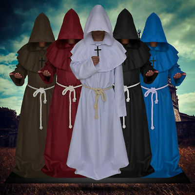$ CDN46.64 • Buy Halloween Adult Men's Priest Costume Medieval Monk Christian Missionary Costumes