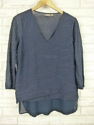 AU25 • Buy Sussan V-Neck Top 3/4 Sleeves Blue Sz XS, 8
