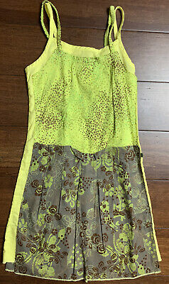 £12.35 • Buy Jean Bourget Girls Boutique Green Floral Dress 100% Cotton Sz 8 Made In France