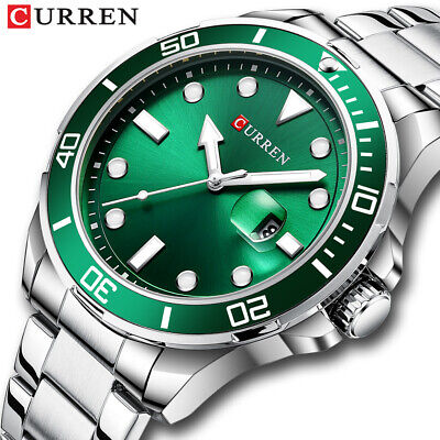 $ CDN22.18 • Buy CURREN Men Quartz Watches Casual Steel Wristwatches Business Calendar Male Watch