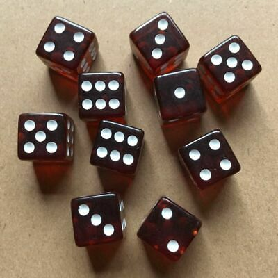AU8.79 • Buy Square Cube Dices Round Corner Six Sided D6 Acrylic 16mm 0.6 Inch FOR RPG DICE