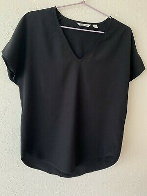 AU9.99 • Buy Country Road Beautiful Womens Black Top Blouse, Size S/4, Brand New, Free Post