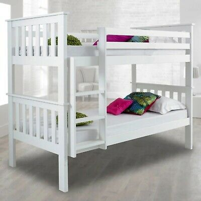 3ft Double Bed Bunk Bed Frame Kids Children Sleeper Single Bed Frame With Stairs • 199.99£