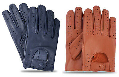 Men's Classic Retro Style Soft Lambskin Leather Quality Chauffeur Driving Gloves • 8.99£