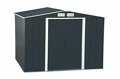 Duramax ECO 8' X 8' Hot-Dipped Galvanized Metal Garden Shed - Anthracite With • 340.99£