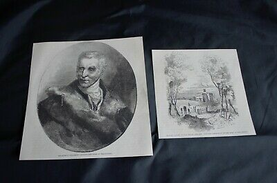 ANTIQUE BOOK ENGRAVING 'Duke Of Wellington & His Birthplace' Page Size:7  X 7.5  • 3.99£