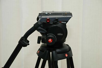 Manfrotto 504HD Pro Video Head +manfrotto 546B Two Stage Tripod Legs Plus Bag • 450£