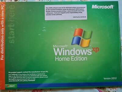 Microsoft Windows XP Home Edition Version 2002 DELL PC. Brand New Sealed. • 5.90£