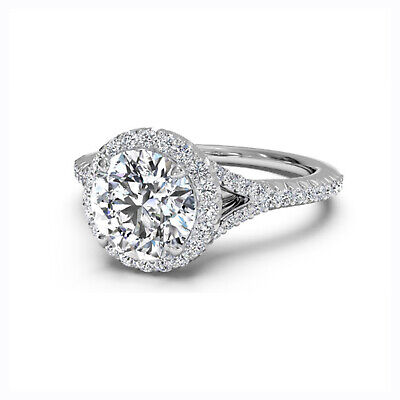 AU1092.86 • Buy 1.10 Ct Round Cut Diamond Engagement Ring For Women 14K White Gold Size 5 6 7 9