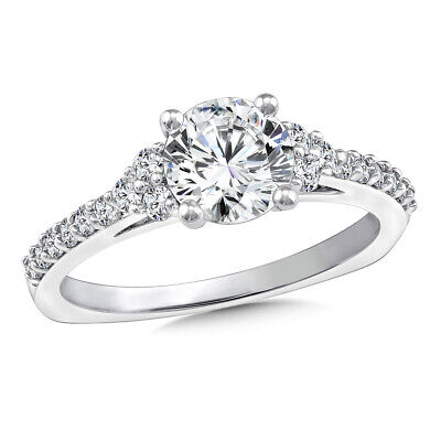 AU1092.86 • Buy 1.35 Ct Round Cut Diamond Women Engagement Ring Solid 14K White Gold Size 5 6 7