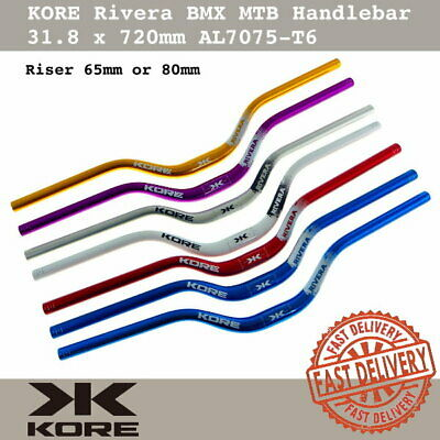 $39 • Buy KORE Rivera BMX MTB Handlebar 31.8x720mm AL7075-T6 Triple Butted Riser 65mm/80mm