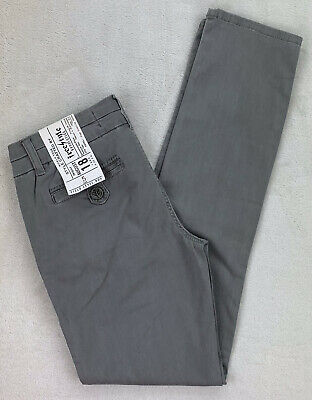 $19.99 • Buy Freestyle Revolution Grey Pants Straight Skinny Leg Low Rise Stretch Jr Size 5