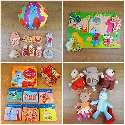 In The Night Garden Toy Bundle Soft Iggle Piggle Upsy Daisy Wooden Puzzle Books • 17.99£