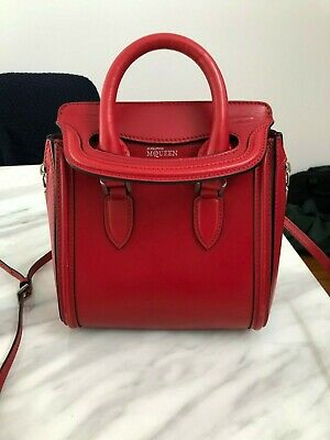 AU375 • Buy Pre-owned: AUTHENTIC ALEXANDER MCQUEEN - Red Leather Mini Heroine Bag