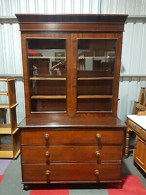 AU650 • Buy Antique 19th Century Mahogany Bookcase On Chest