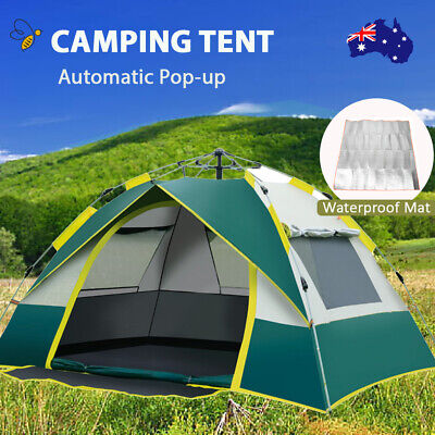 AU58.99 • Buy Double Layer Camping Outdoor Tent 3-4 Waterproof Automatic Quick Open Tents