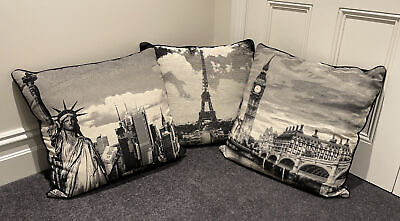 AU4.99 • Buy Paoletti World Scenes Cushion Covers 60cm X 60cm