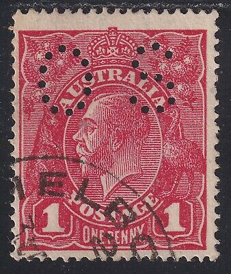 AU2.95 • Buy KGV 1d Penny Red. SWM. Official Perf 'OS'. Used (R171)