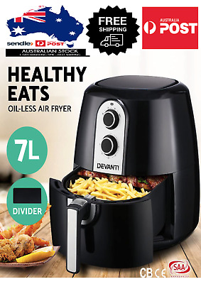AU99 • Buy Devanti 7L Air Fryer Healthy Cooker Low Fat Oil Free Kitchen Oven Timer RRP$169