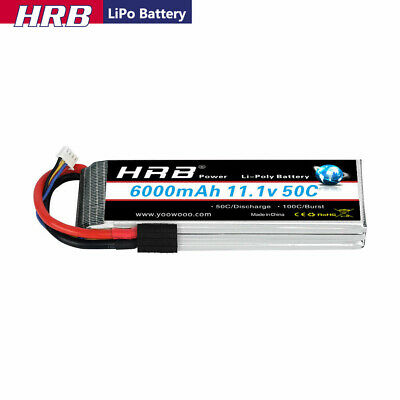 AU72.67 • Buy HRB 11.1V 3S 6000mAh LiPo Battery 50C Traxxas For RC Car Truck Boat Quad FPV
