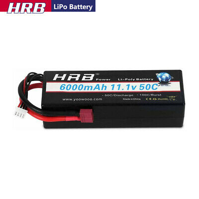 AU74.57 • Buy HRB 11.1V 3S 6000mAh LiPo Battery Hard Case 50C Deans For RC Car Truck Boat