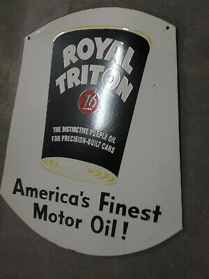 $ CDN1.25 • Buy Porcelain Royal Triton Enamel Sign Size 24  X 20.5 Inches Double Sided