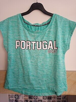 Portugal Sport Crop Sports Running Football Dance Top • 1.50£