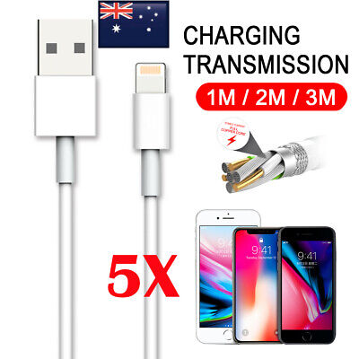AU9.95 • Buy 5X 3M Fast Charging USB Lightning Charger Data Cable For Apple IPhone IPad IPod
