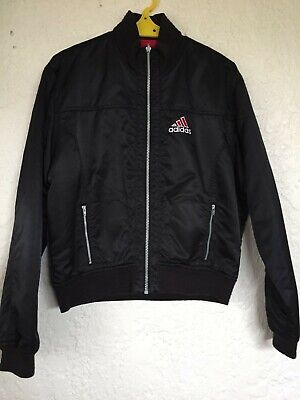 AU30 • Buy Adidas Black Bomber Jacket ( Reversible To Red )- Size M - VG Condition