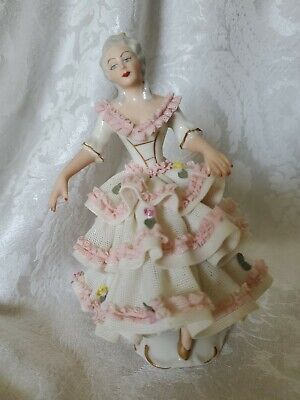 $ CDN237.43 • Buy FANTASTIC German Dresden Porcelain Lace Figurine AWESOME CONDITION