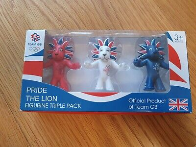 London 2012 Olympic Mascot: Pride The Lion Figurine Triple Pack • 5.99£