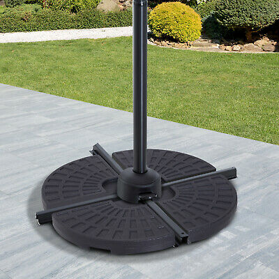AU119.84 • Buy Outsunny 4PC Umbrella Base Sun Parasol Stand Holder Weight Sand Water Filled
