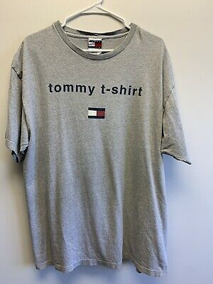 $ CDN12.62 • Buy Vintage Tommy Hilfiger Tommy T Shirt Sz L/XL Made In USA 90s Hip Hop