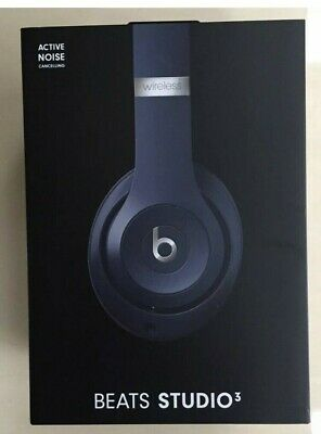 Beats By Dr. Dre Studio3 Wireless Noise-Cancelling On-Ear Headphones - Dark Blue • 148£
