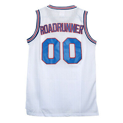 Road Runner Tune Squad White Jersey Space Jam Basketball Costume Roadrunner Toon • 16.70£