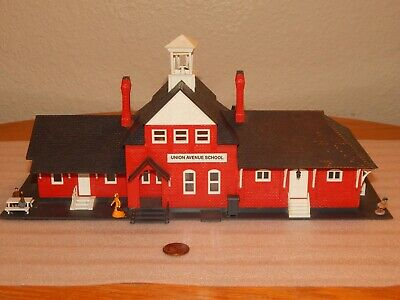 $ CDN1.25 • Buy Life-Like HO 1:87 Model Building ~ Union Avenue School ~ Train Layout Scenery
