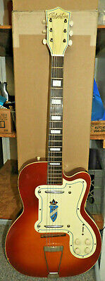 $ CDN1519.20 • Buy Silvertone Thin Twin Electric Guitar Hollowbody Vtg 50'-60's ERA