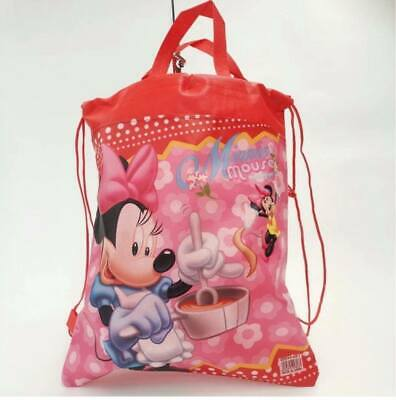 AU8 • Buy Cartoon Drawstring Backpack School Library Bag Girls Boys MINNIE MOUSE  Kids