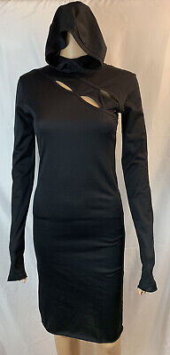$ CDN277.85 • Buy DEMOBAZA HOODIE FIT BLACK DRESS,KEYHOLES, Women's Size Small Long Sleeves NWOT