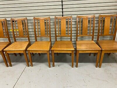 AU200 • Buy Timber Chairs X 6 Pick Up Mt Eliza Vic