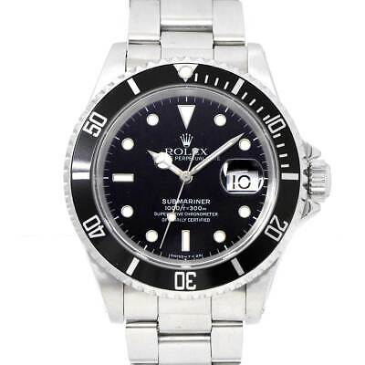 $ CDN9787.48 • Buy ROLEX Submariner Date 16610 Serial E Automatic Black Dial Mens Watch 90115335