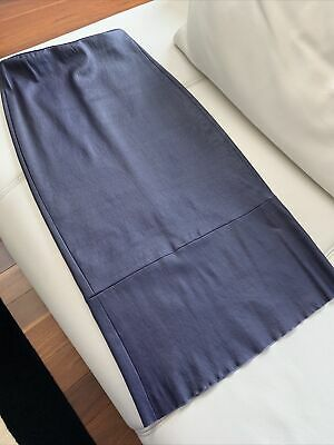 AU180 • Buy Scanlan Theodore Real Leather Fitted Pencil Skirt, Size 8, Dark Violet