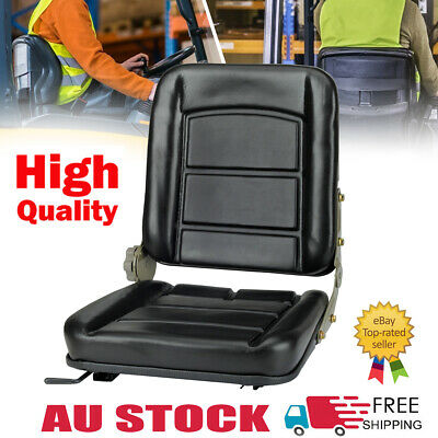 AU69.39 • Buy Forklift Seat Chair Adjustable Leather Bobcat Tractor Excavator Machinery AUS