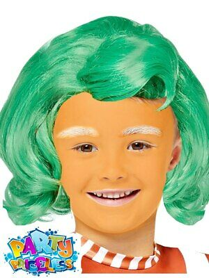 £6.29 • Buy Kids Oompa Loompa Wig Willy Wonka Chocolate Factory Fancy Dress Outfit Accessory