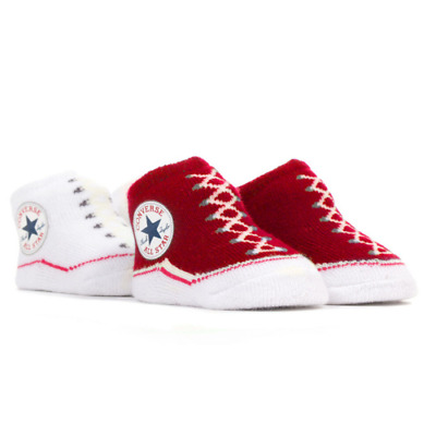 Converse All Star Baby Infant Slip On Sock Booties Gift Boxed 2 Pairs 0-6 Months • 14.95£
