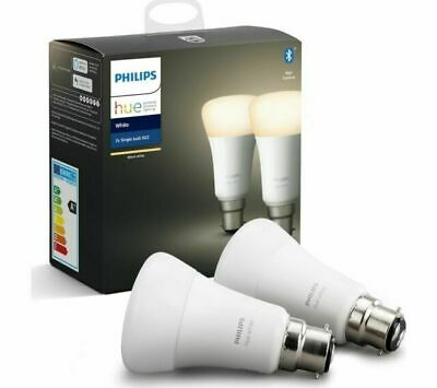 AU54.09 • Buy Brand New PHILIPS HUE Hue White Bluetooth LED Bulb - B22 Twin Pack - FAST POST