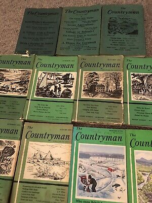 THE COUNTRYMAN MAGAZINE -11 Books Between 1949 And 1977/78 As Per Image. • 20£